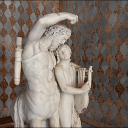 The Meeting of the Divinities: The Centaur Chiron and the god of medicine, Asclepius
